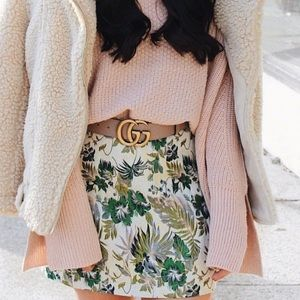 Floral urban outfitters jacquard skirt size m